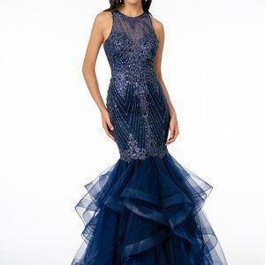 Halter Neck Mermaid Shape Prom Dress GSGL1822